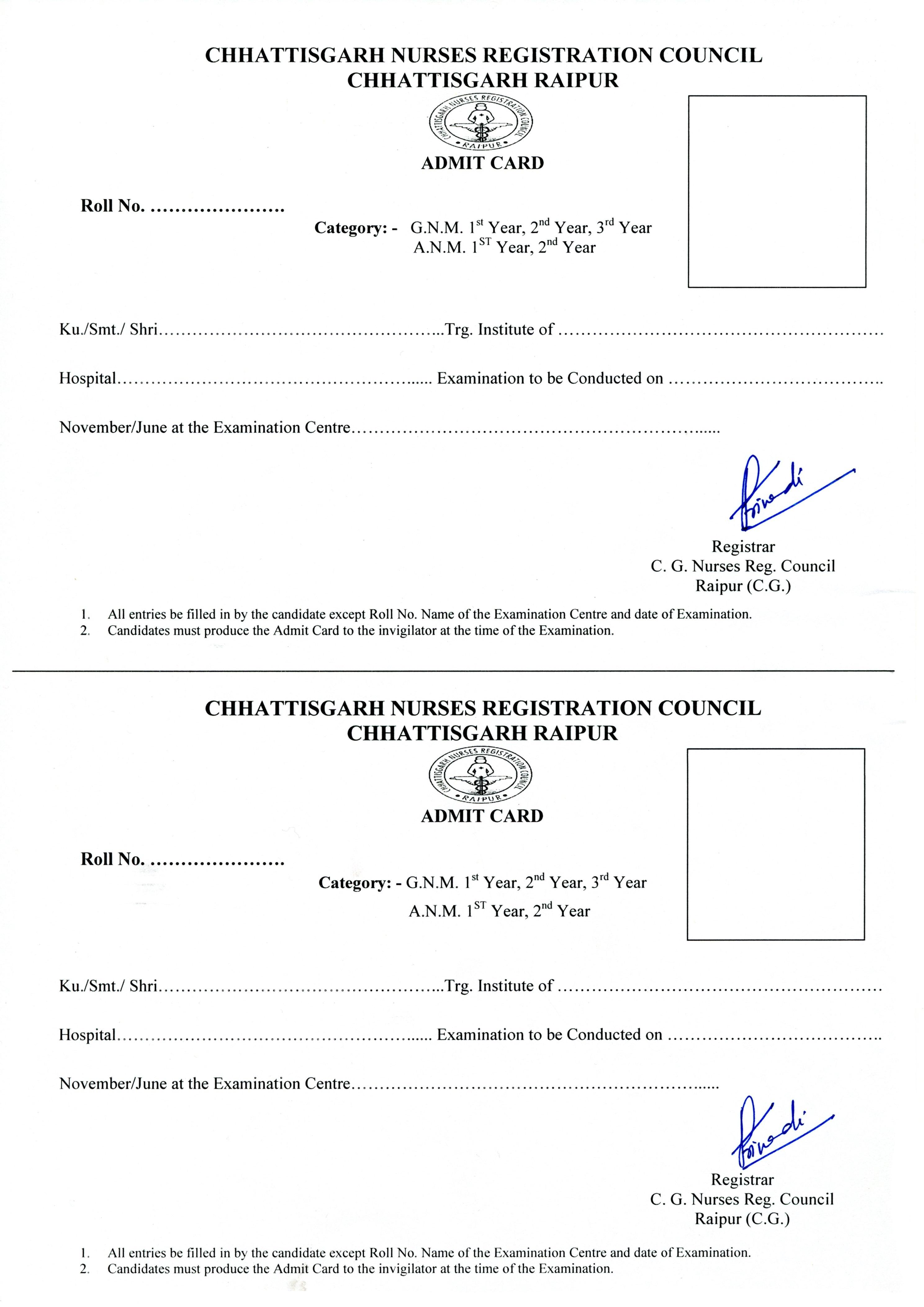 Chhattisgarh Nurses Registration Council : Add/Edit Master